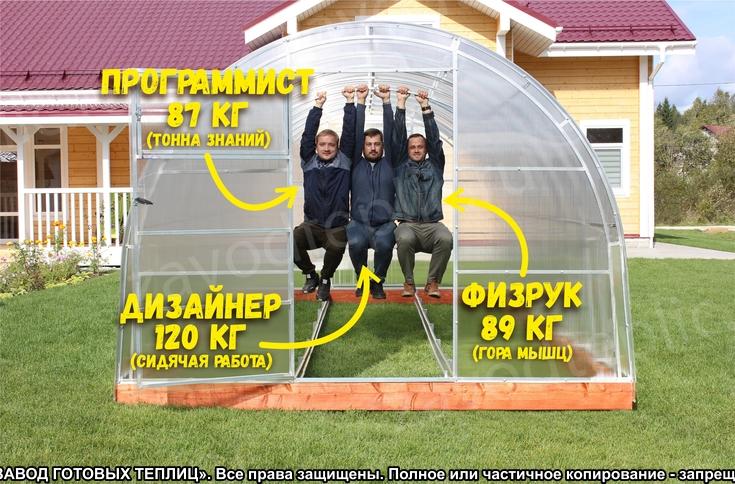 """Теплица """"Рублевская Люкс"""" ЗАВОД ГОТОВЫХ ТЕПЛИЦ"""